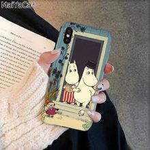 MaiYaCa Hippo moomin, милый чехол для телефона из ТПУ с изображением животных, черный чехол для iphone 11 pro 8 7 66S Plus X XS MAX 5s SE XR(Китай)