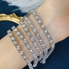 Jewelry Diamond Light Jewelry Customized Natural Diamond 3mm Chain 14k/18k Solid White Gold Bracelet For Women