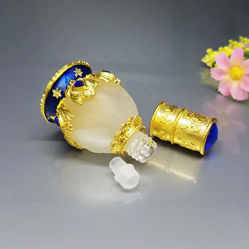 wholesale oil perfume bottles luxury metal attar bottles empty perfume bottle dubai 12ml