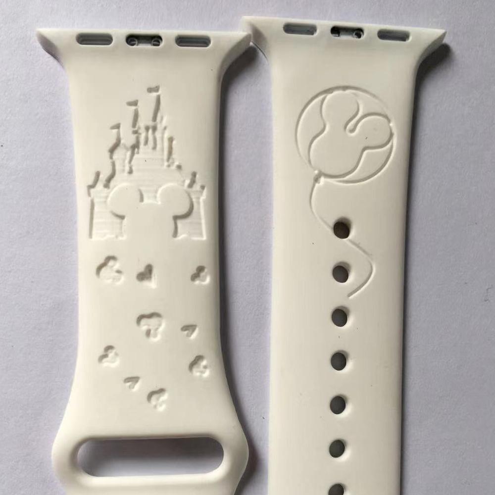 Силиконовый ремешок для часов Apple Watch 6 /SE с лазерной гравировкой