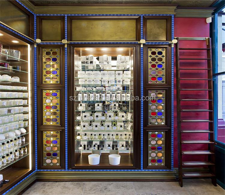 modern cosmetics shop interior design make up stands and displays makeup counter