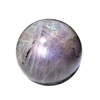 Factory direct selling Natural polished flash purple labradorite spheres crystal balls for decoration