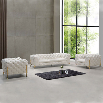 For home european chesterfield living room fabric sofa set modern furniture