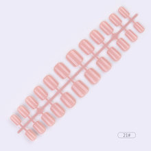 24 шт./компл. Многоразовые Накладные ногати искусственные советы полное покрытие для украшения пятки дизайн Пресс на рисунки на ногтях подде...(Китай)
