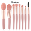 pink+clear bag