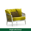 1 sofá de color amarillo