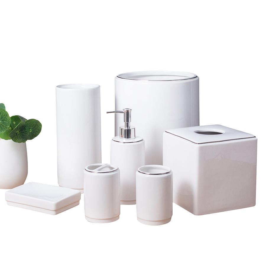 Bulk Custom White Porcelain Bathroom Tumbler Bath Accessories Set Ceramic Bathroom Tumbler Set Buy Bathroom Accessory Ceramic Bathroom Set Bathroom Set Product On Alibaba Com