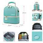 Bag Diaper Bags Backpack Cooler Bag Double Cooler Bag Breast Milk Diaper Mummy Waterproof Insulated Pack Bags Custom Logo Storage Outdoor Lunch Backpack