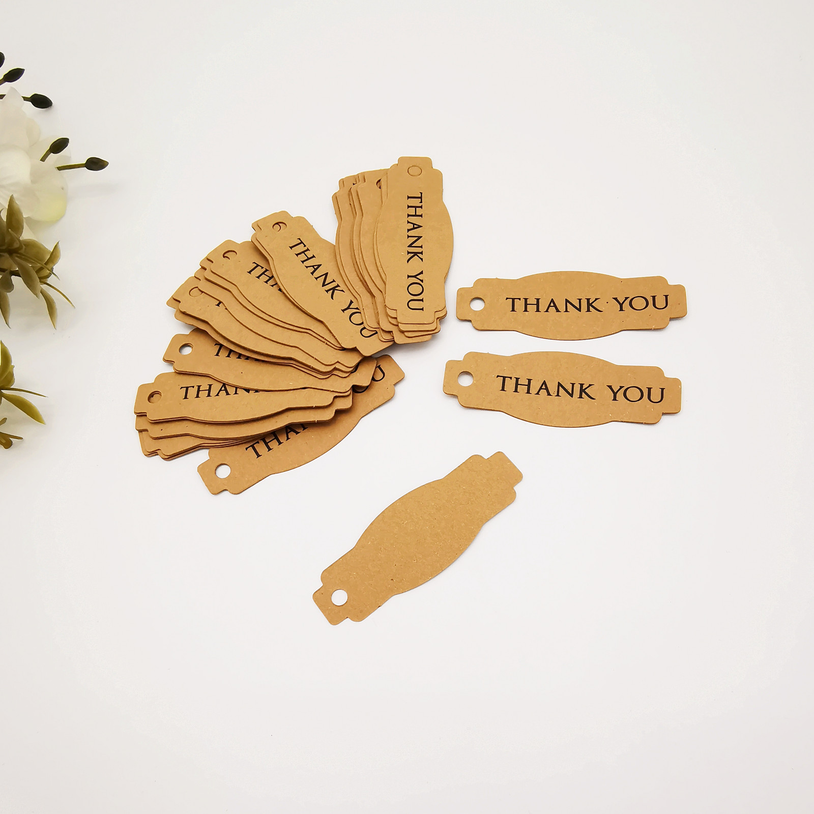 Kraft Paper Little Gift Box Ornaments Thank You Note Candy Box Decorations Small Decorative Items