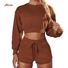 Shorts Sports Gym Set Adapt Training Ribbed Cotton Blend Loose Gym Tracksuit Drawstring Waist Shorts Sports Fitness Set