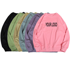 320GSM Custom Drop Shoulder mens sweater printed plain cotton oversized hoodie unisex sweatshirts