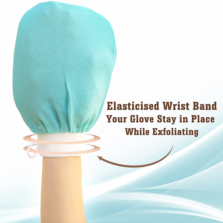 New design 100% silk exfoliating mitt gloves