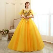 Классические Вечерние платья Gryffon для выпускного вечера с коротким рукавом, винтажное бальное платье, роскошное кружевное Пышное Платье ра...(China)