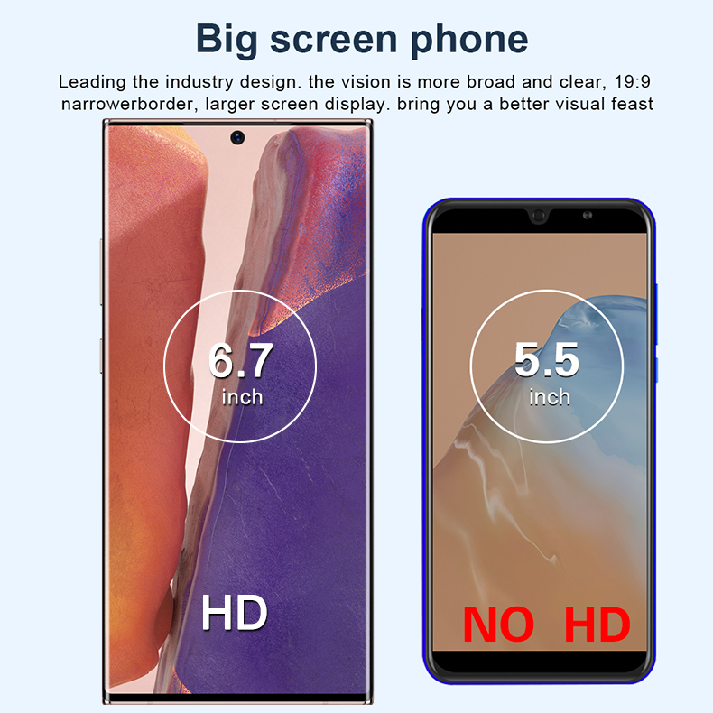 NOTE 20 U+ Note20 Ultre 6.9 inch Screen Android phone IPS touch screen Wifi telefonos moviles smartphone mobile smart phone