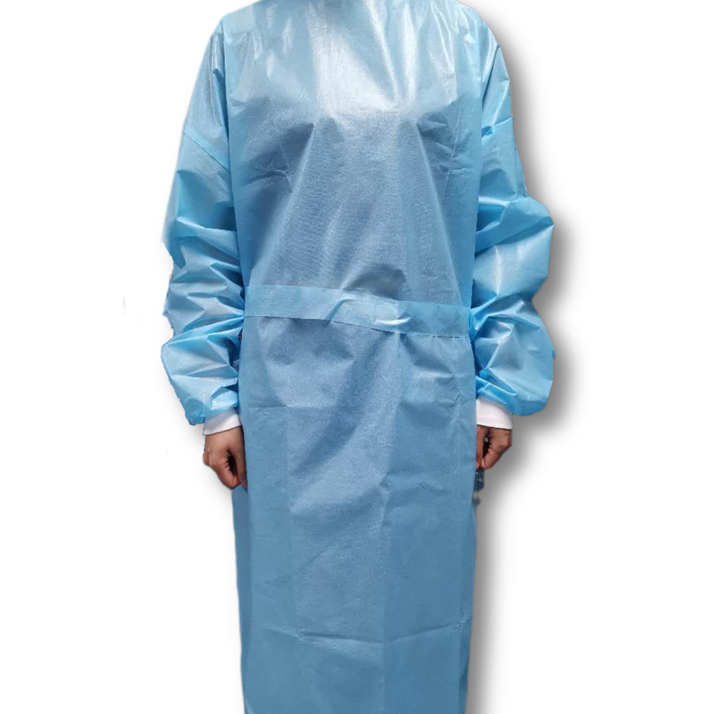 Disposable pe laminated water - proof isolation gown aami level 1 - KingCare   KingCare.net