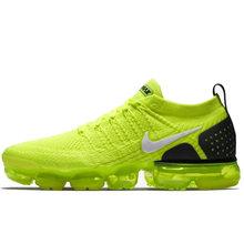 Оригинальные подлинные мужские кроссовки для бега Nike Air VaporMax, удобные, износостойкие, модные, сетчатые, дышащие кроссовки 942842-005(Китай)