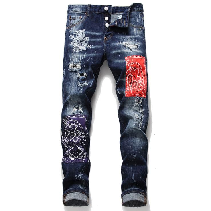 Pantalones Vaqueros Largos Con Agujeros Para Hombre A La Moda Empalme De Cintura Media Buy Vaqueros Para Hombres Pantalones Vaqueros Para Hombre Jeans Denim Product On Alibaba Com