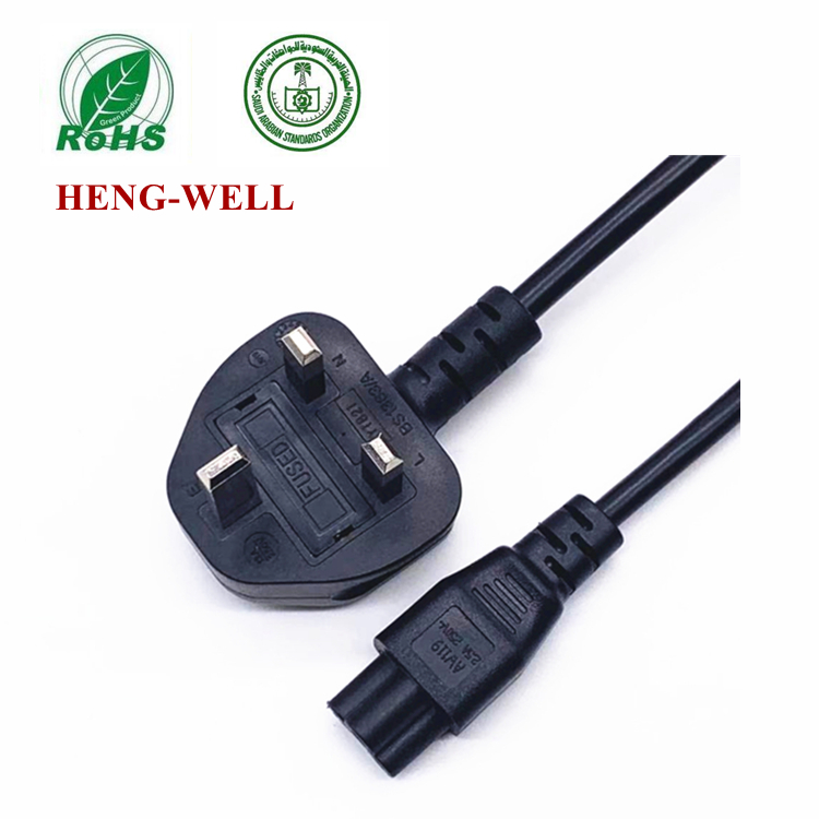 Heng-well Saudi Arabia 3 Pin Power Cord For Home Electrical 13A 250V IEC C13 Plug SASO Extension Cab(图2)