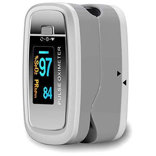 Серый Пальчиковый Пульсоксиметр CONTEC CMS50D1 ISO