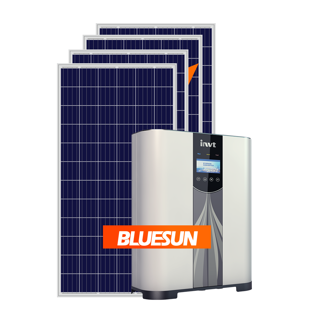 Bluesun 30Kw Solar Energy Systems 30 Kw 33Kw 36Kw 40Kw On Grid Power System Home With Zero Export Device
