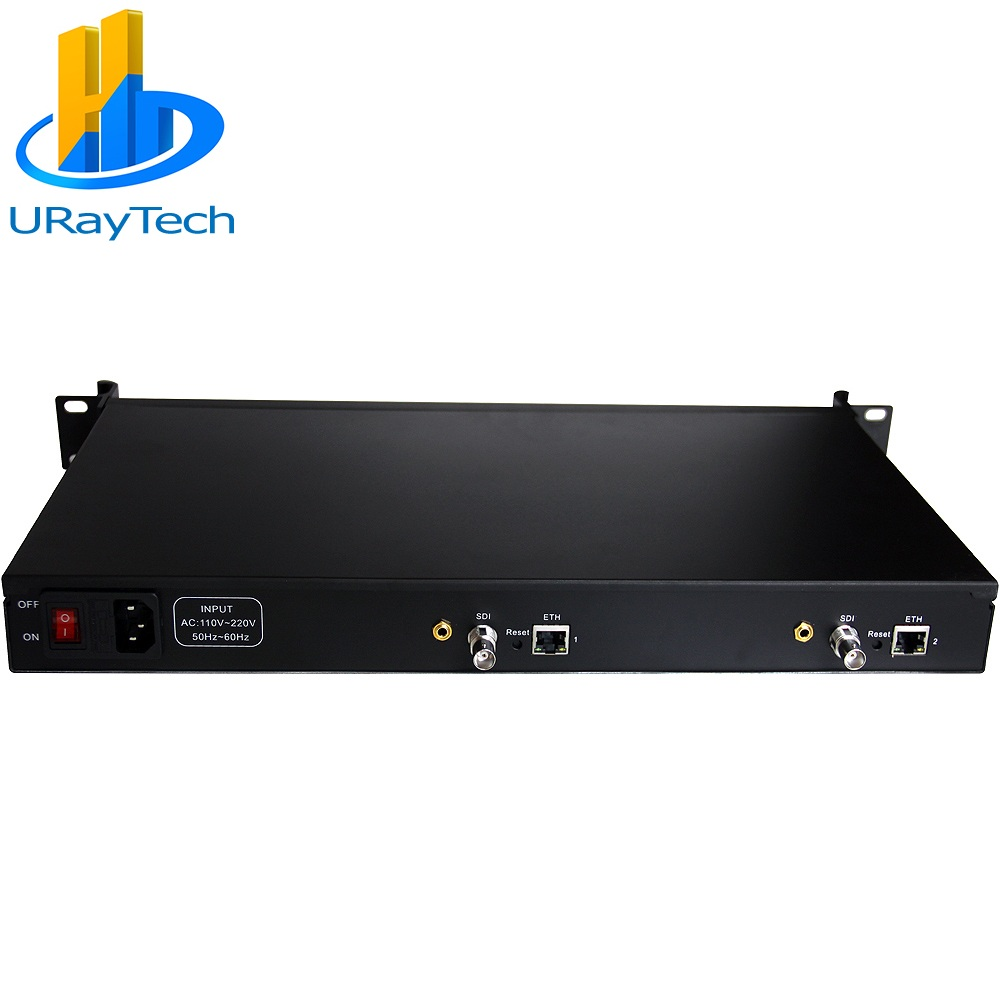 URay 1U Rack HEVC H.265 SD HD 3G SDI To IP HD Video Encoder IPTV Encoder Live Streaming RTMP Encoder SDI