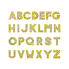 8mm Gold color Full rhinestone letters