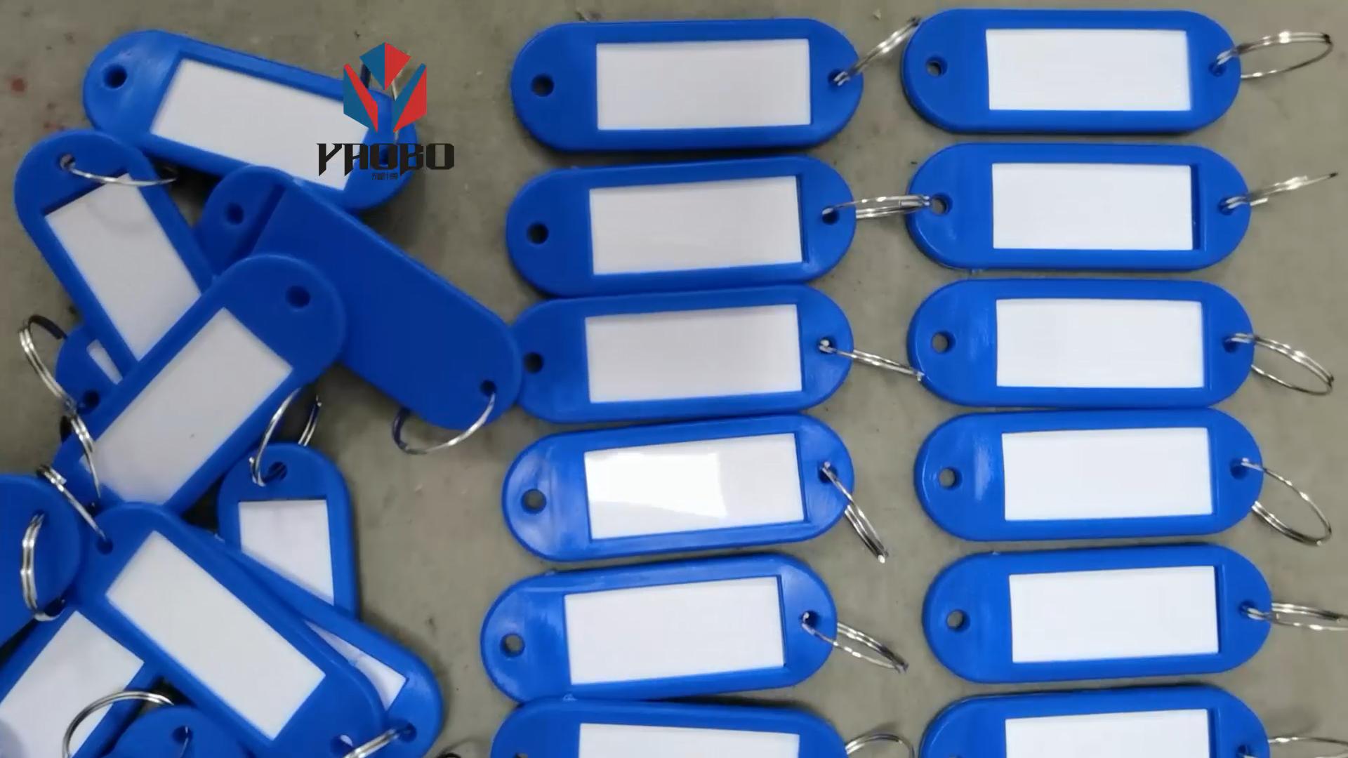 Fashion High Quality Metal Number Plastic Round Key Tag
