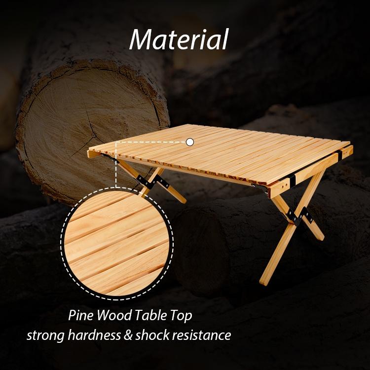 Уличный Роскошный складной деревянный стол KingGear для пикника, барбекю