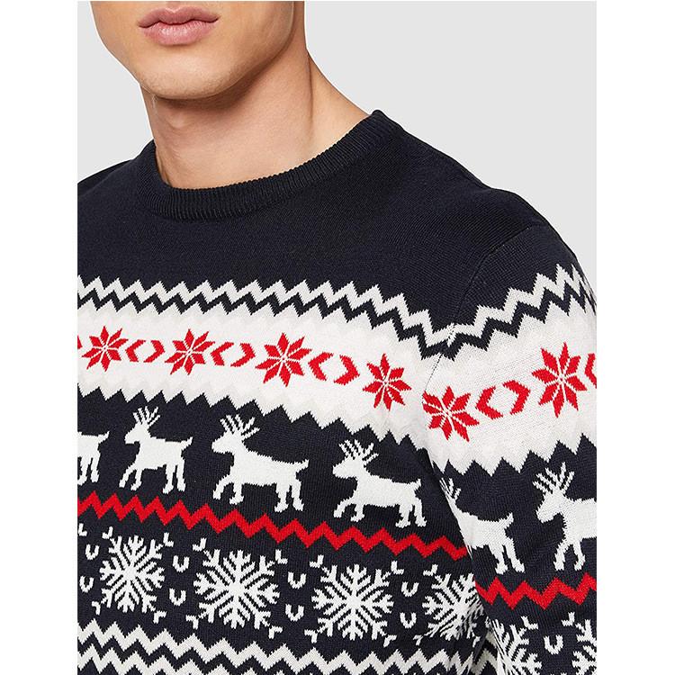 Direct Manufacturer Men's Oversized O-neck Sweater Knitting Patterns Christmas Sweater