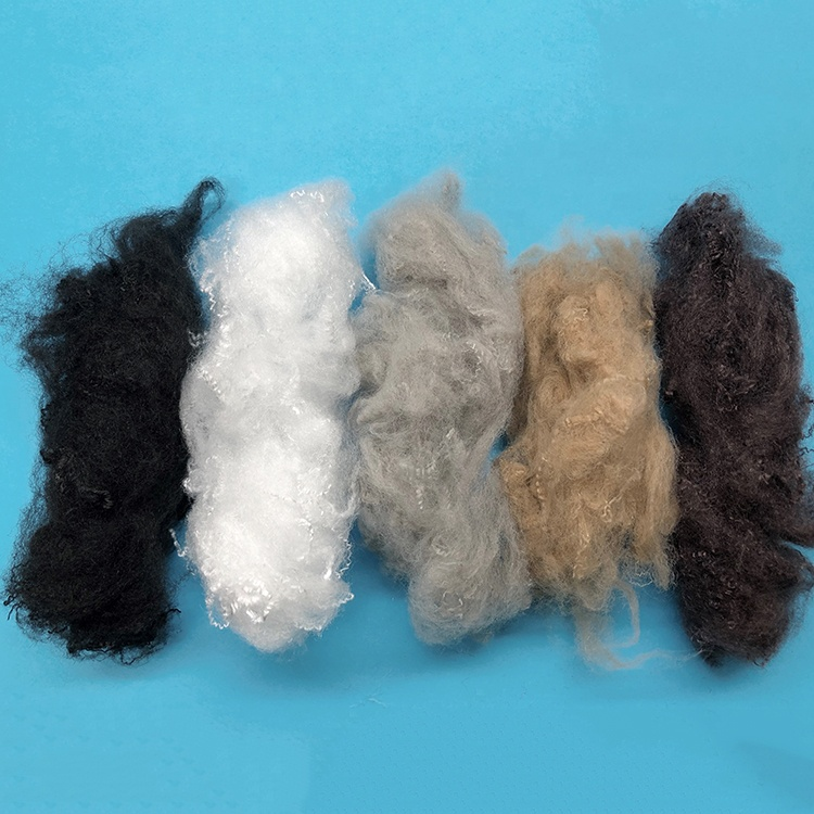 3D pp polypropylene staple fiber for needle punch nonwoven fabric