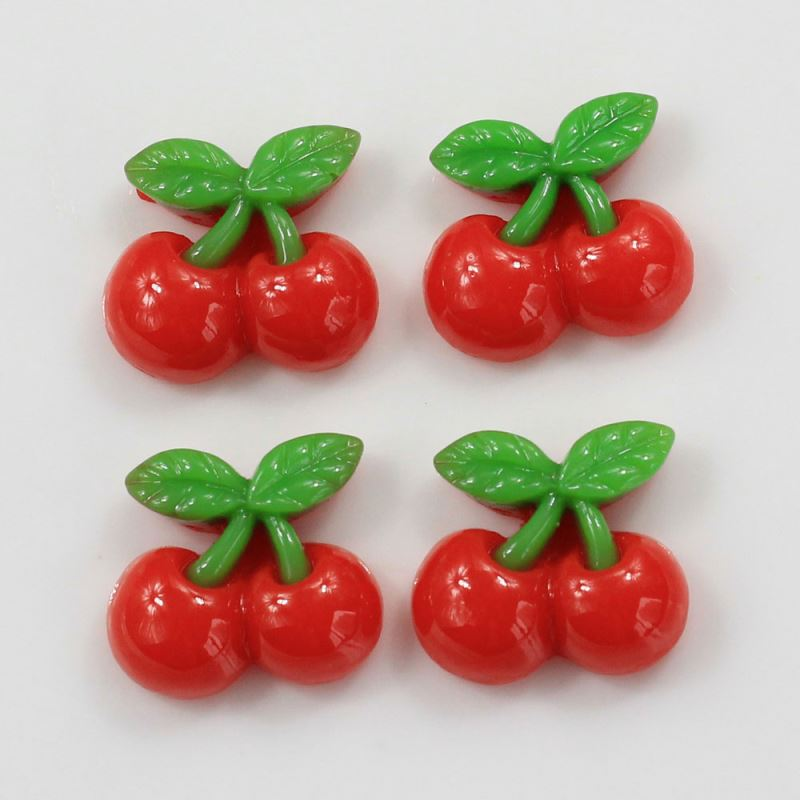 Wholesale Cheap Price 14*16mm Mini Size Cute Strawberry Resin Craft Cabochon Charms 3D Style for Slime