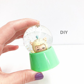 Resin Crafts Cheap Wholesale Plastic souvenir gift Snow globe Create Your own gift DIY Empty Snow Globe