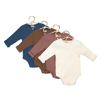 new born baby romper clothes blank ribbed babys cotton onsie OEM plain baby bodysuit