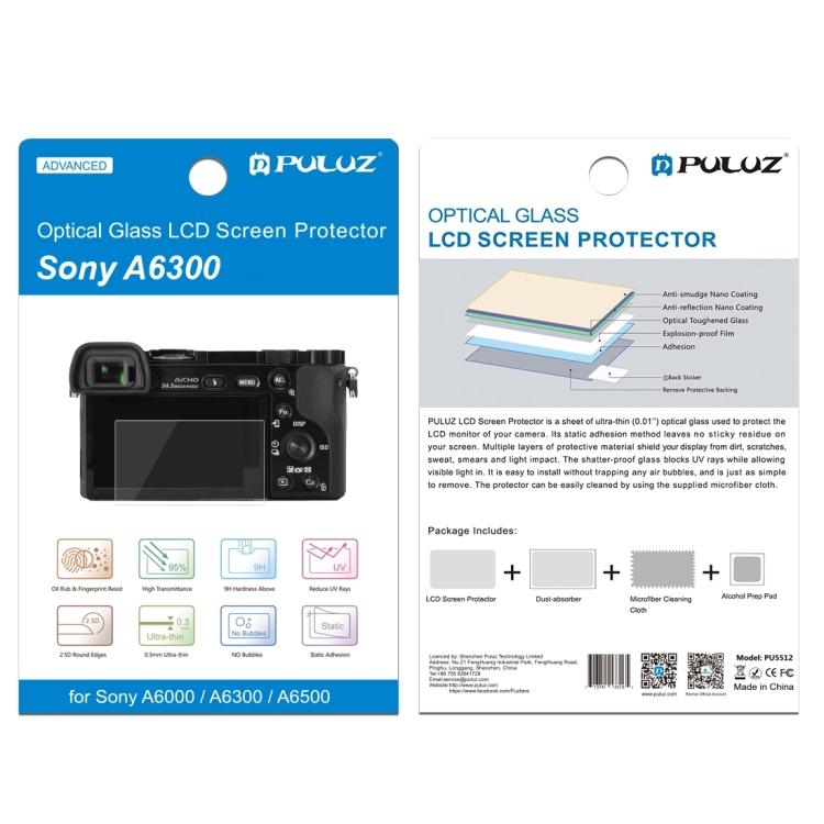 PULUZ 2.5D 9H закаленное стекло, Защитная пленка для экрана Sony для Panasonic для Olympus, Защитная пленка для экрана камеры