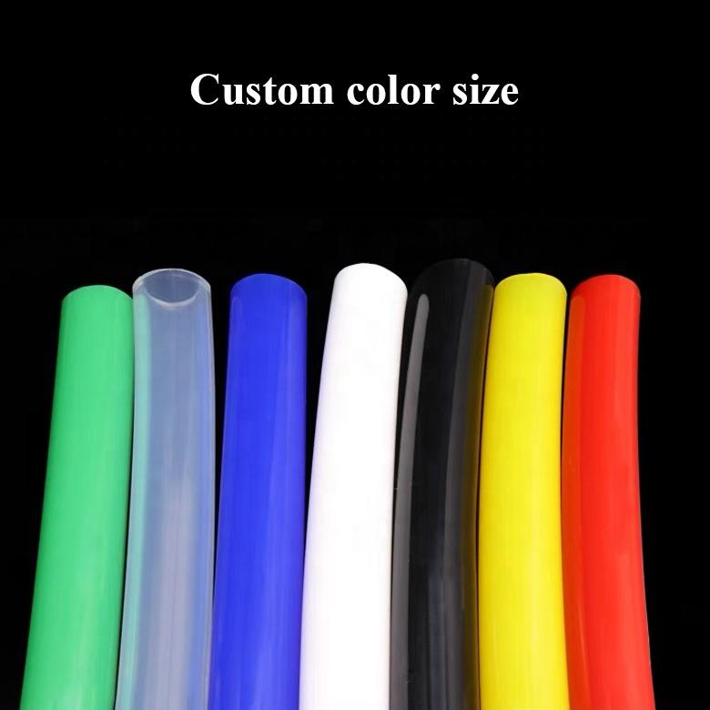 Термостойкий прозрачный экструдированный гибкий силиконовый шланг для воды, воздуха, Вакуумный пищевой силиконовый шланг