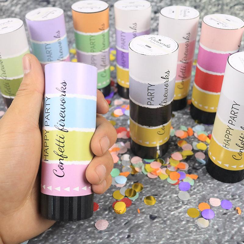 Birthdays Weddings Foil Silver Gold Rose Gold Confetti Popper Party Confetti Cannon Mini handheld confetti cannon