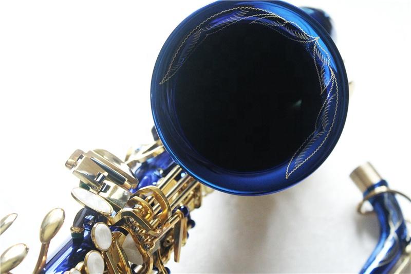 Alto saxophone, blue nickel plated saxophones