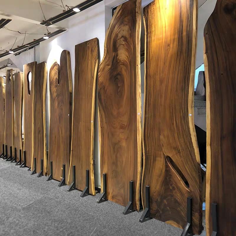 industrial modern kitchen natural shape table top live edge walnut large rustic wood slab