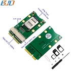 Mini PCI-E 52Pin Wireless Module Card to Mini PCIe Converter Adapter with Standard 8Pin SIM Slot for 3G/4G/GPS/LTE Mini Card