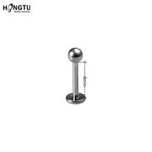 HONGTU 1 шт. G23 титановое ювелирное изделие для пирсинга тела панк Подкова перегородка Пирсинг нос губы кольцо ухо смайлик бар BCR круглая штанга(China)