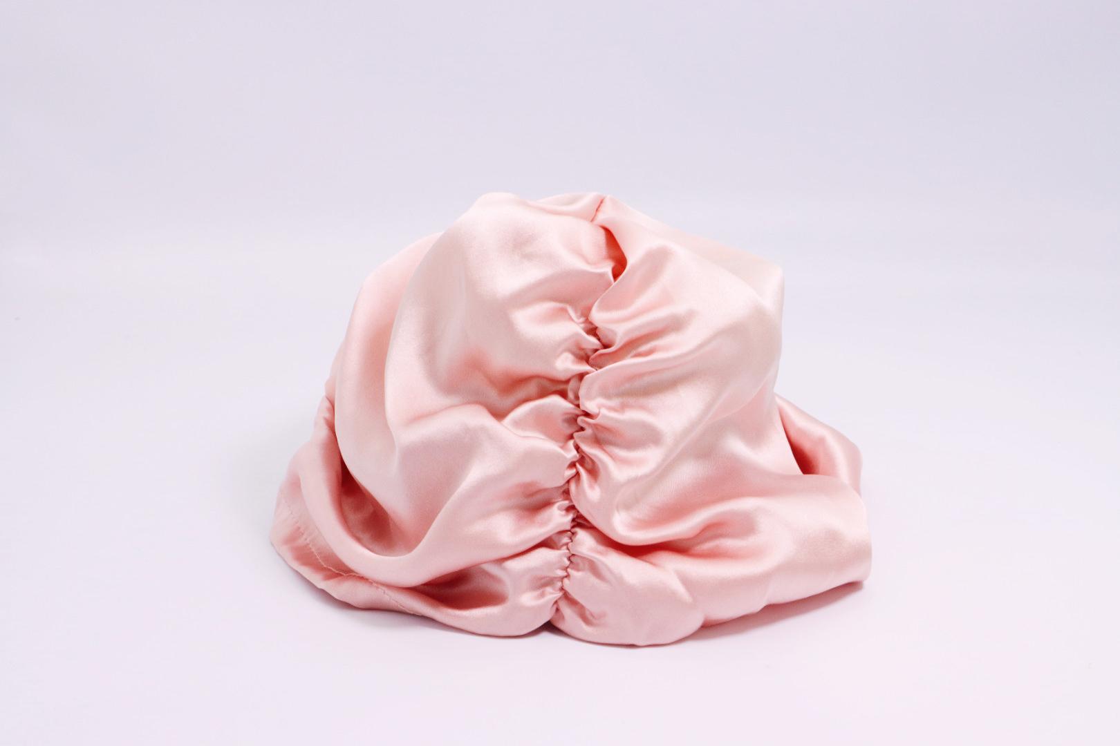 Luxury Satin 19mm Silk Hair bonnet Double Layer Silk Turban with Custom Logo sleeping cap