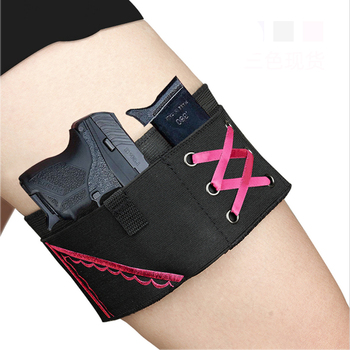 Tactical Thigh Leg Gun Holster Adjustable Women Concealment Left and Righ-hand Gun Holsters Pistol Leg Holster with Magazine