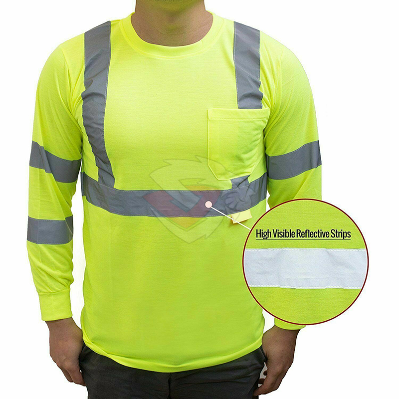 Class 3 High Visible Long Sleeve Safety T Shirts