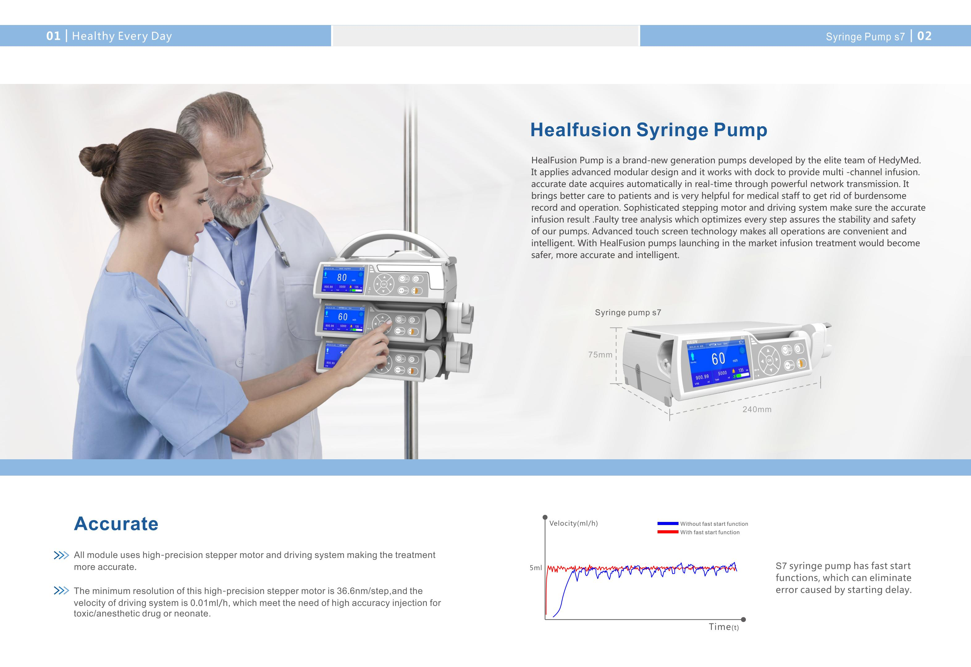 syringe pump Electric automatic portable syringe pump with drug library syringe pump