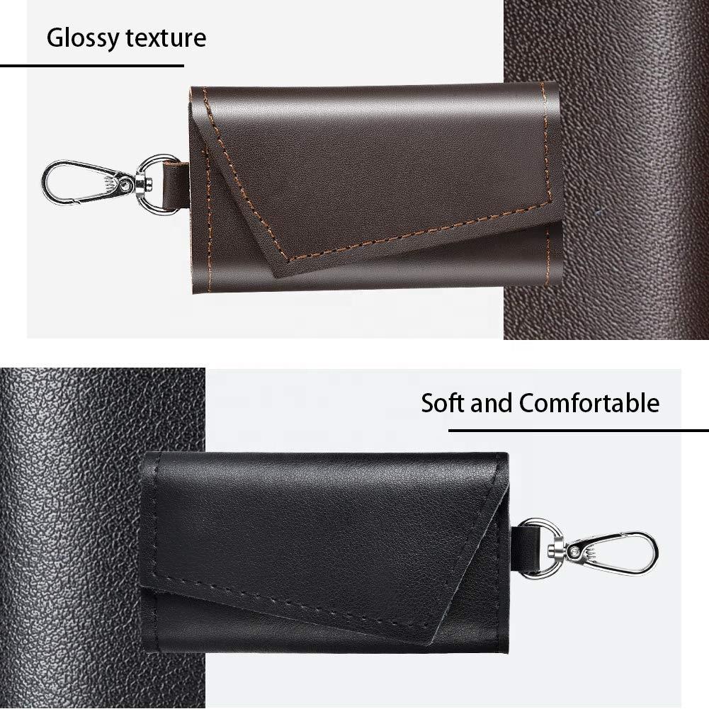2020 New Design Multi Function Wallet Bag Key Case Cash Purse Keyring Pouch Mini Leather Key Holder Wallet for men women