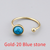 Gold-20 Blue stone