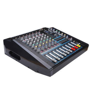 New arrival power mixer USB console build-in power amplifier 6 channel audio mixer