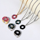Ring Simple And Cute Donut Necklace Ring Set Combination For Women