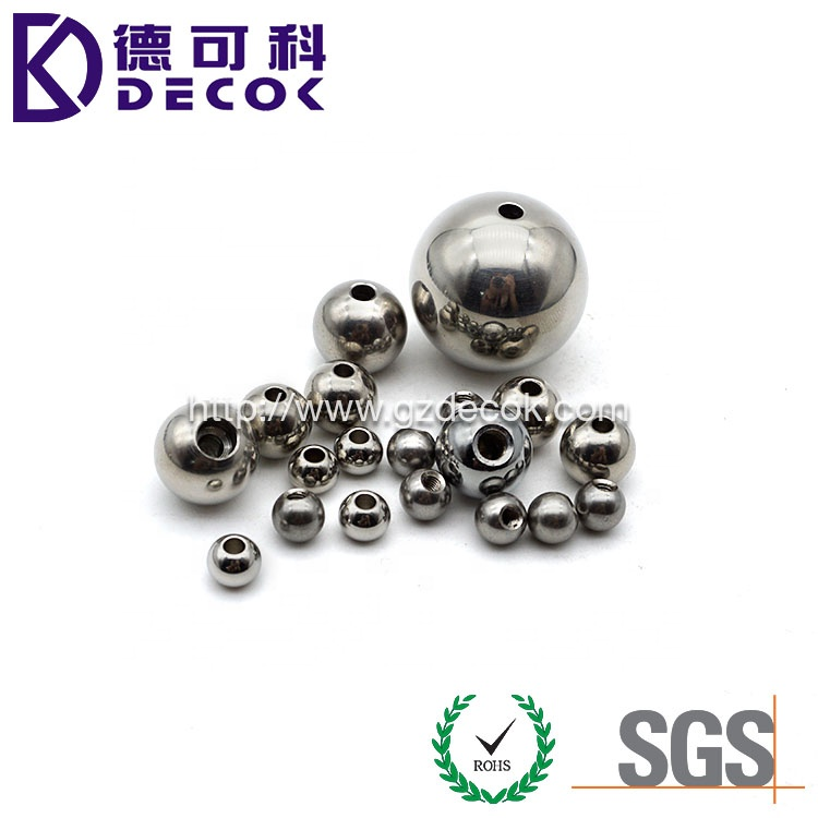 OEM 6mm 8mm 10mm 12mm Drilled Threaded Steel Ball with Hole