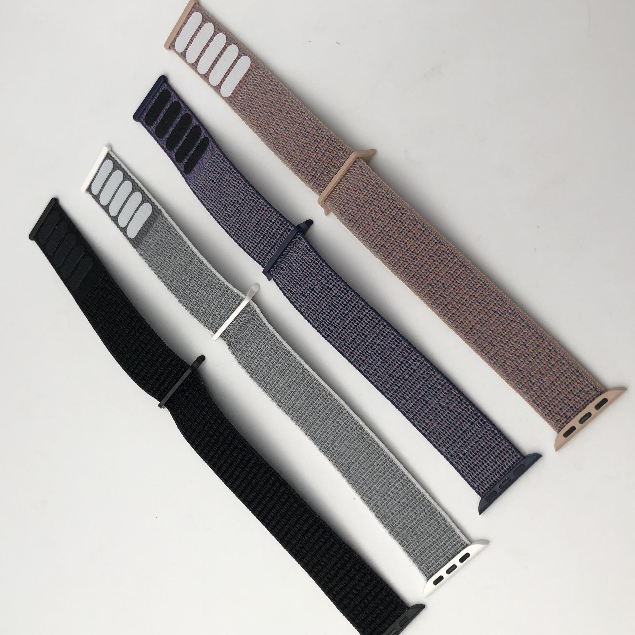 Fashion Style Hot Selling Wholesale 22 24 mm Nylon Sport For Apple Watch Strap